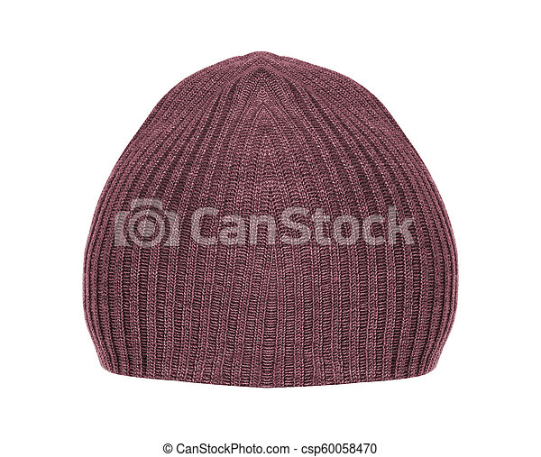 Wool Hat isolated on white background - csp60058470