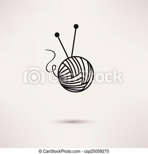 Woolen thread and needles - csp25059270