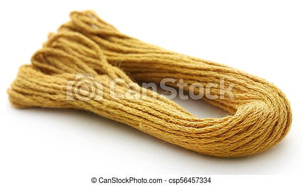 Woolen thread of golden - csp56457334