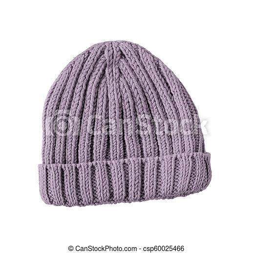 woolen winter hat isolated on white background - csp60025466