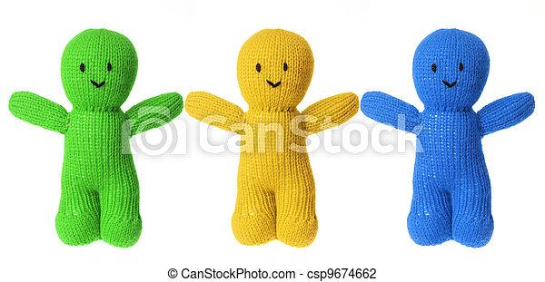 Woollen Dolls - csp9674662