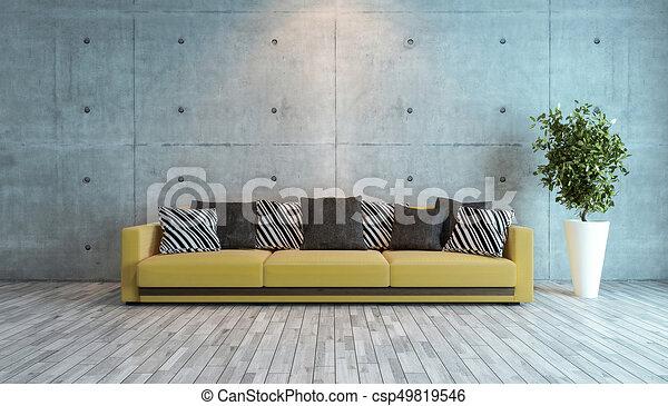 Woonkamer Met Beton : Woonkamer muur idee beton ontwerp interieur. woonkamer