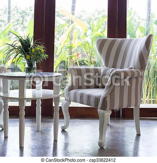 Woonkamer, sofa, ontwerp, interieur, meubel. Woonkamer, sofa ...