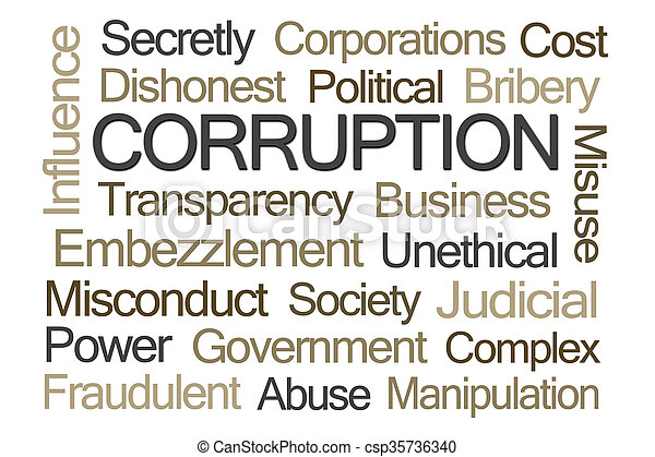 woord, corruptie, wolk - csp35736340