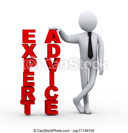 woord, deskundig, raad, zakenman, presentatie, 3d - csp17149104