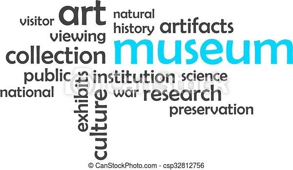 woord, museum, -, wolk - csp32812756