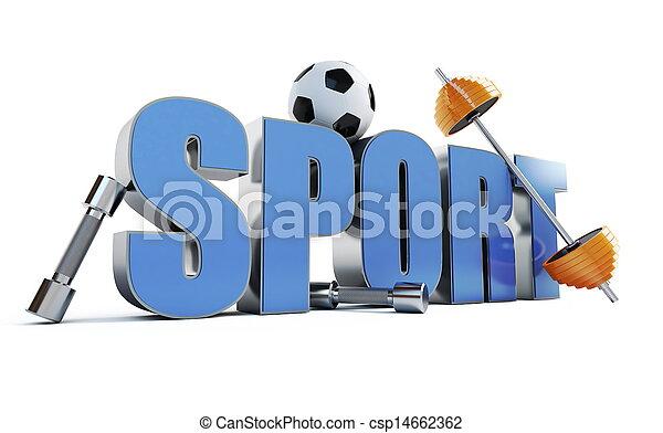 woord, sporten - csp14662362