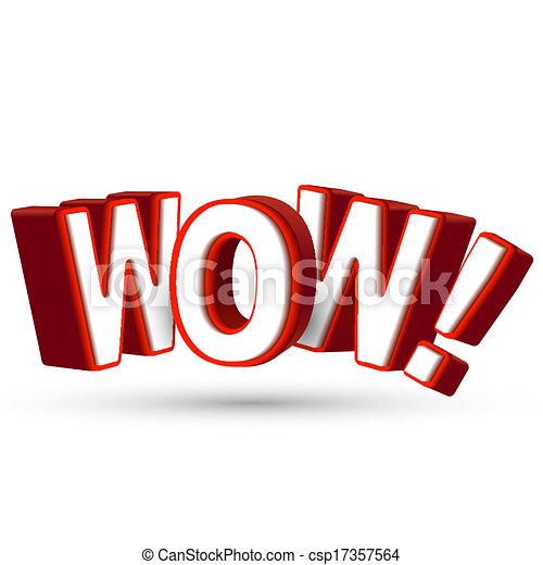 woord, verrassend, tonen, groot, wow, 3d, iets, brieven, verrassing, verbazend, ontzagwekkend, rood, verbazing - csp17357564