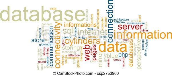 woord, wolk, databank - csp2753900