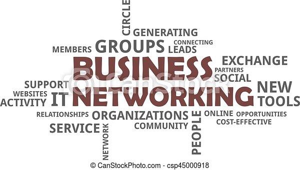woord, -, wolk, handel networking - csp45000918