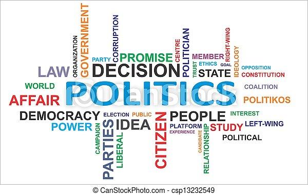 woord, -, wolk, politiek - csp13232549