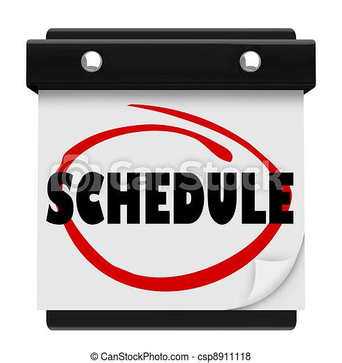 woord, zich herinneren, schema, muur, benoemingen, kalender - csp8911118