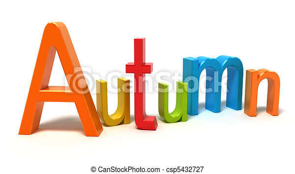 Word autumn with colourful letters - csp5432727