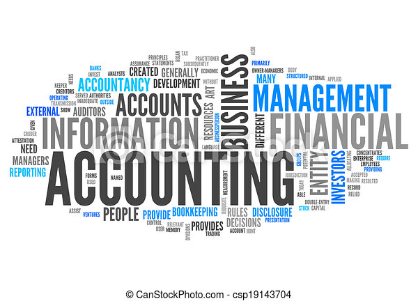 "Word Cloud ""Accounting"" - csp19143704"