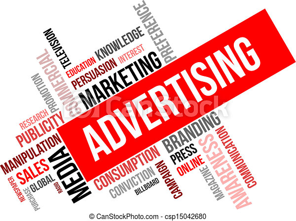 word cloud advertising a word cloud of advertising related items rh canstockphoto com advertisement clipart internet advertising clipart