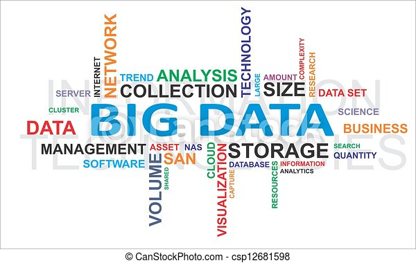 word cloud - big data - csp12681598