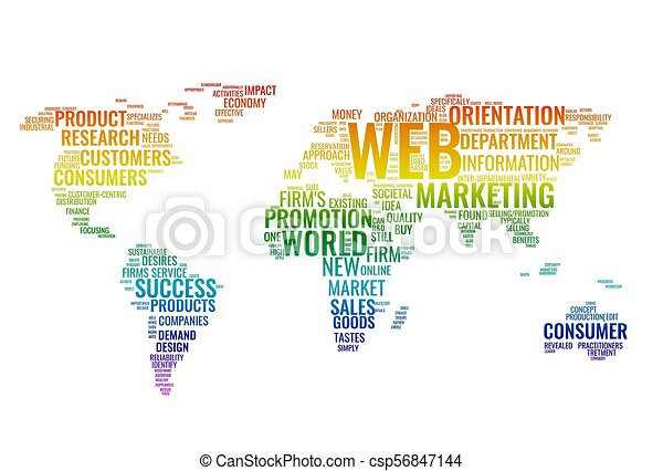 Word cloud business concept world map from text web marketing word world map from text csp56847144 gumiabroncs Choice Image
