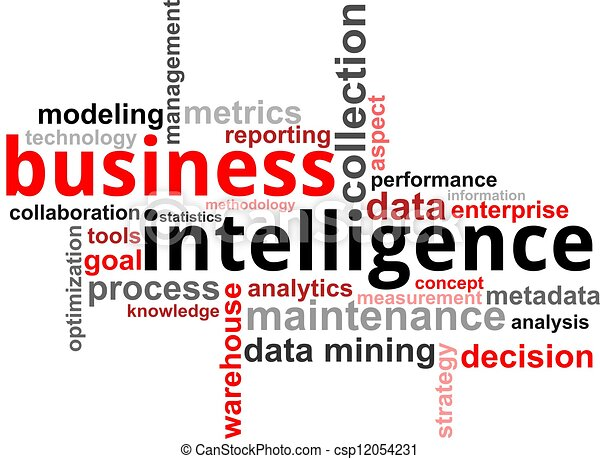 word cloud - business intelligence - csp12054231
