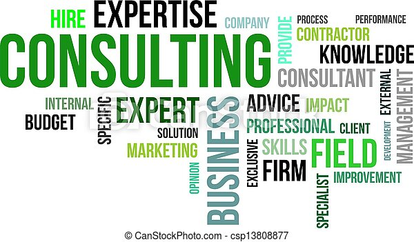 word cloud - consulting - csp13808877