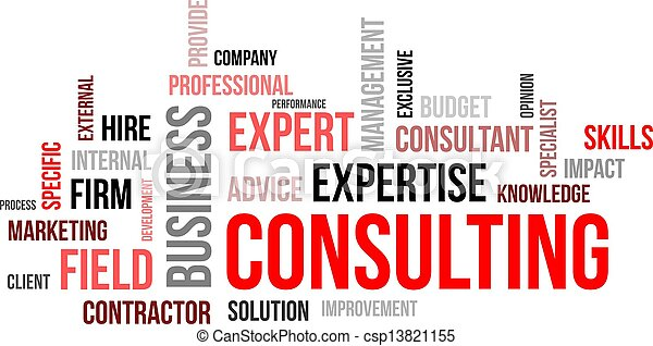 word cloud - consulting - csp13821155