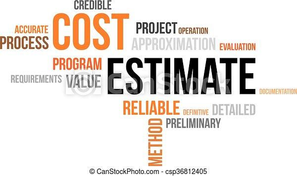 word cloud - cost estimate - csp36812405