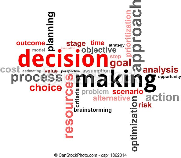 word cloud - decision making - csp11862014