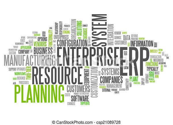 Word Cloud Enterprise Resource Planning - csp21089728
