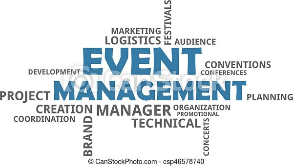 word cloud - event management - csp46578740