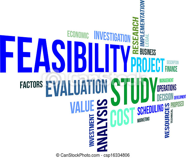 Word Cloud - Feasibility Study Stock Vector - Illustration ...