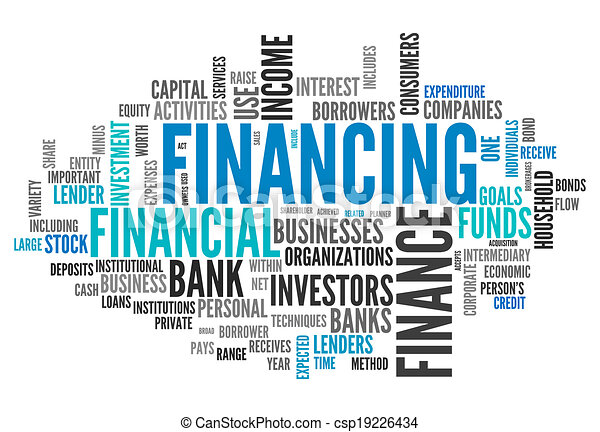 Word Cloud Financing - csp19226434