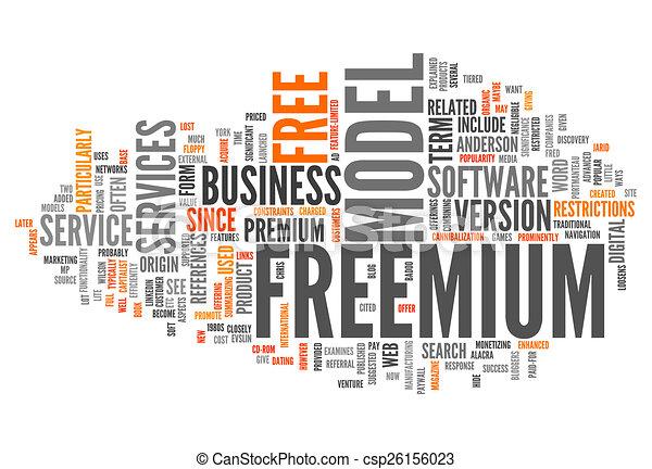 Word Cloud Freemium - csp26156023