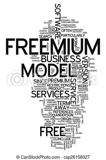 Word Cloud Freemium - csp26156027
