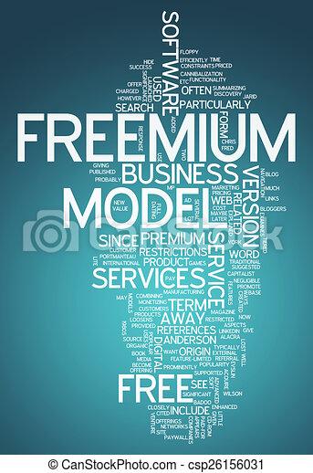 Word Cloud Freemium - csp26156031