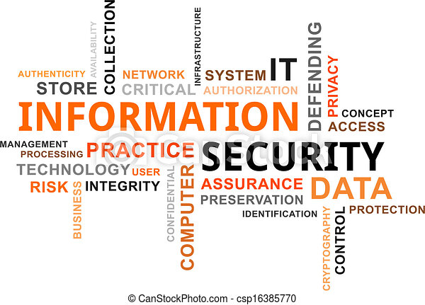 word cloud - information security - csp16385770