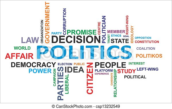 word cloud - politics - csp13232549