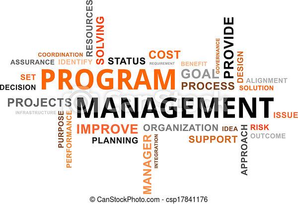 word cloud - program management - csp17841176