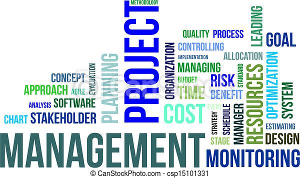 word cloud - project management - csp15101331
