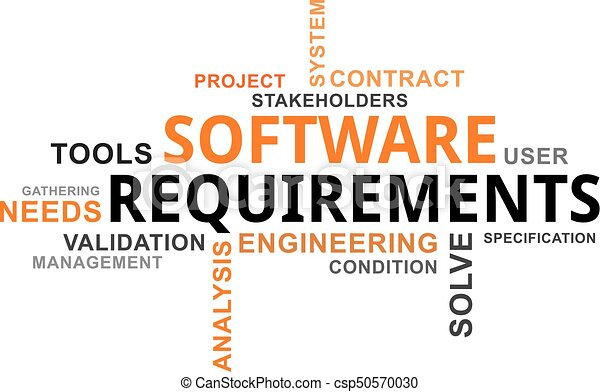 Word Cloud Software Requirements A Word Cloud Of Software - Software requirements