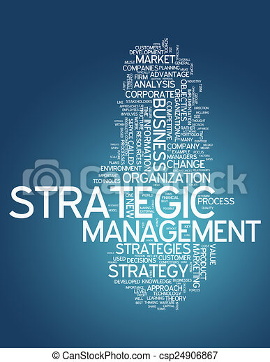 Word Cloud Strategic Management - csp24906867