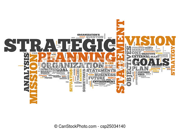 Word Cloud Strategic Planning - csp25034140