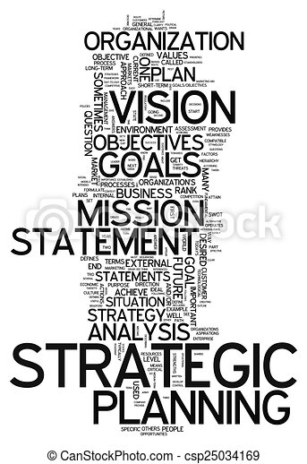 Word Cloud Strategic Planning - csp25034169