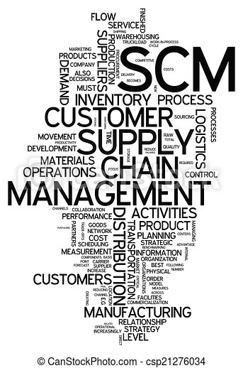 Word Cloud Supply Chain Management - csp21276034