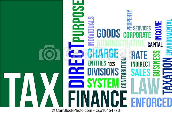 word cloud - tax - csp18454778