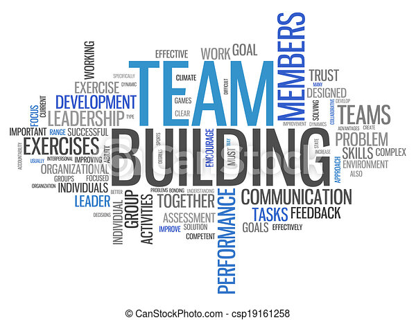 word cloud team building word cloud with team building related tags rh canstockphoto com team building activities clipart team building activities clipart