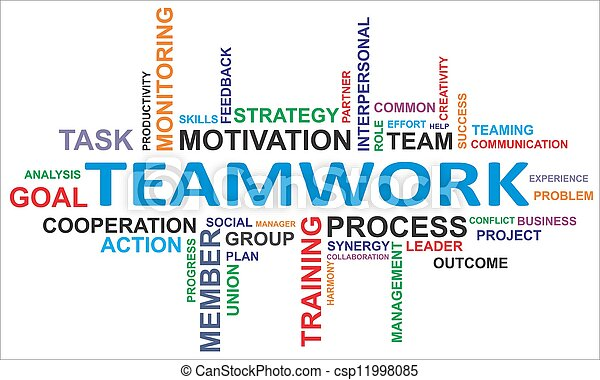 word cloud - teamwork - csp11998085