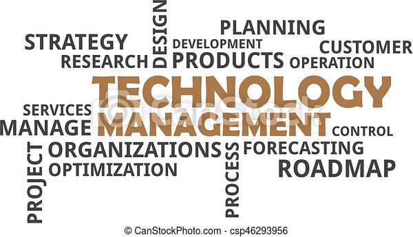 word cloud - technology management - csp46293956