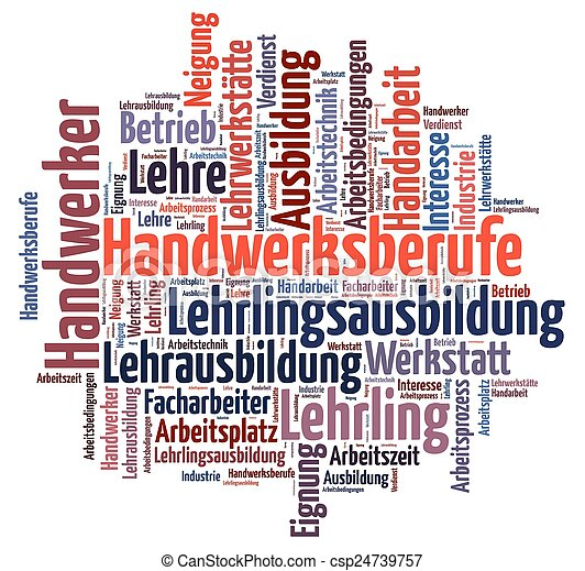 Word cloud to vocational training - csp24739757