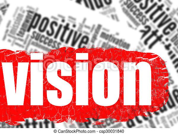Word cloud vision business sucess concept - csp30031840