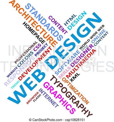 Word cloud - web design - csp10828151