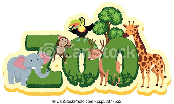 word design for with wild animals illustration clipart vector rh canstockphoto com wildfire clip art wildlife clipart black and white